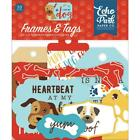 Scrapbooking Crafts EP Die Cuts I Love My Dog Frames Tags Puppy Love Paw Print