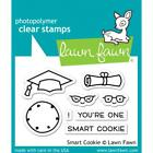 Scrapbooking Crafts LawnFawn Clear Stamp One Smart Cookie Graduation Cap Diploma