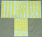 Creative Memories Alphabet Letter ABC and number 123 stickers Yellow