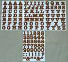Creative Memories Alphabet Letter ABC and number 123 stickers Brown
