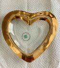 Annieglass Heart Bowl Dish Gold Rim Signed Numbered Rare Limited Edition