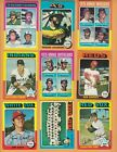 HUGE VINTAGE 1975 TOPPS LOT OF 100 DIFFERENT JIM RICE ROOKIE REGGIE JACKSON FISK