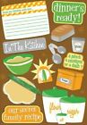 Scrapbooking Crafts KF Stickers Kitchen Cooking Dinners Ready Bread Recipe Card