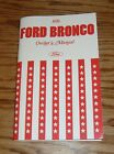 1976 Ford Bronco Owners Operators Manual 76