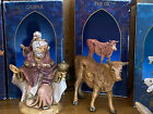 Fontanini by Roman Heirloom Nativity 7 pc 3 Kings Donkey Horse Ox Jeremiah 1992