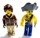 ☀️ LEGO Minifigures LOT JACK  STONE Great 4 Young Lego Builders PIRATE * PILOT
