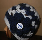 TAMPA BAY LIGHTNING BLUE Beanie flower  design hand crochet Womens Teen hat NEW