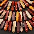 Natural Australian Mookaite Jasper Faceted Double Terminated Beads 16 Strand