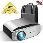 LED Native 1080P FullHD 6000LUX Home Theater Video Movie Projector Entertainment