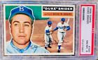 1956 Topps #150 - Duke Snider - Dodgers HOF OF - Gray Back - PSA 8 NM-Mint