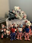 1996 2000 2004 TY Rare Beanie Baby Lefty & Righty Retired