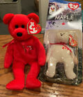 Ty Beanie Baby Pierre Bear + Teenie McDonald Maple In Pack, Canada