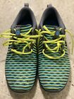 Nike Mens Roshe Two Running Shoe Size 95 US Volt Yellow Blue Pre owned