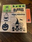 wood mounted rubber stamps lot Halloween