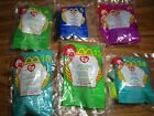 6 TY Beanie Babies 2000 McDonalds Happy Meal Toys Unopened Dotty Lucky Bumble