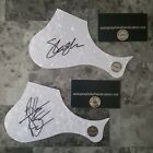 SLASH & AXL ROSE GUNS AND ROSES 2 HAND SIGNED GUITAR PICK GUARDS WITH COA