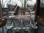 6 Bucket Bowl Goblets RUMMER GLASS Blown bowl molded KNOP water wine antique