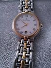 VINTAGE MAURICE LACROIX UNSEX w AUTOMATIC DATE ONE OWNER TWO TONE Gold SilveR