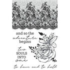 Kaisercraft Two Souls Clear Cling Stamps Wedding Love Lace Floral