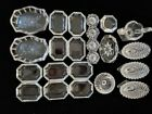 Lot of 23 Antique Glass Dishes Candle Holders Salt Dips Nut Cups