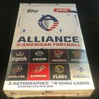 2019 TOPPS ALLIANCE OF AMERICAN FOOTBALL FACTORY SEALED HOBBY BOX 3 AUTOS BOX*
