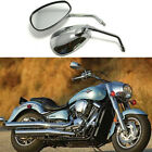 Chrome Long Stem Motorcycle Mirrors For Kawasaki Vulcan 800 900 1500 Custom US