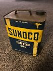 Vintage Sunoco Mercury Two 2 Gallon PA GASOLINE SUN OIL ADVERTISING CAN