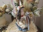 Blue eyed Fall Colors Fairy Figurine with baby dragon by Pacific Giftware New