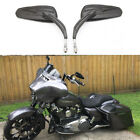 Black Motorcycle Rearview Mirrors For Harley Davidson Road Glide Ultra Custom IA