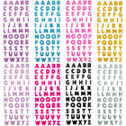 Glitter Alphabet Letter Self Adhesive Stickers DIY A Z Words Craft Diary Decor