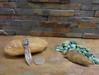 RARE NAVAJO STAMPED STERLING TURQUOISE BOOKMARK NATIVE OLD PAWN FRED HARVEY