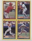 1991 Topps Wax Box Bottoms Willie McGee Eddie Murray Dale Murphy Dave Parker HOF