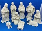 VTG Mikasa 9 Piece White Porcelain Nativity IOB With Original Tags Excellent
