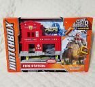 Matchbox Cliff Hanger Fire Station Play on the Edge 2011 w Fire Truck New in Box