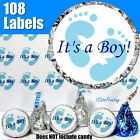 108 ITS A BOY BABY SHOWER BLUE Fits HERSHEY KISS KISSES CANDY STICKERS LABLES