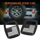 Pair Rear Tail Light Guard Cover US Flag Shape for Jeep Wrangler 1987 2006 TJ YJ