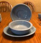 Fiesta Periwinkle Blue Serving Bowls Retired Excellent