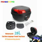 28L Helmet Motorcycle PP Tail Back Box Luggage Storage Motorbike Moped Universal