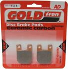 Derbi GPR 125 Racing 2T Brake Disc Pads Rear R/H Goldfren 2004-2007