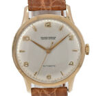 Vintage ULYSSE NARDIN Locle suisse 18KYG/Leather HAND-WIND Men's Watch Z#94430