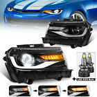 Full LED Projector Headlights for 2014 2015 Chevy CamaroLed D2H Bulb Included