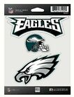 Philadelphia Eagles NFL Triple Spirit Stickers Decals 3 Pack Free Shipping