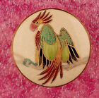 Gorgeous Macaw Parrot Satsuma Picture Button Early Style Shank Large 1 3 16