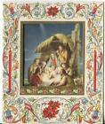 VINTAGE CHRISTMAS NATIVITY MARY JOSEPH CHRIST BETHLEHEM ISRAEL SHEEP SCROLL CARD