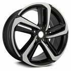 For Honda Accord 18 10 Alloy Factory Wheel Spiral-Spoke Black w Machined Face