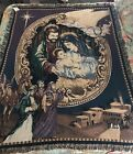Manual Woodworkers  Weavers Nativity Christmas Tapestry Afghan Blanket Throw