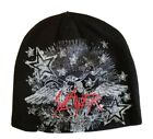 Slayer  New - Embroidered Logo Beanie Hat Cap Logo Black