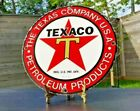 VINTAGE TEXACO T GASOLINE PORCELAIN TEXAS STAR PETRO SERVICE STATION PUMP SIGN