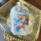 Antique Chinese Snuff Bottle Boys Playing Firecracker Inside Painted Glass
