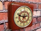 VTG GE OLD RED TEXACO OIL DEALER ADVERTISING GAS STATION DISPLAY WALL CLOCK SIGN